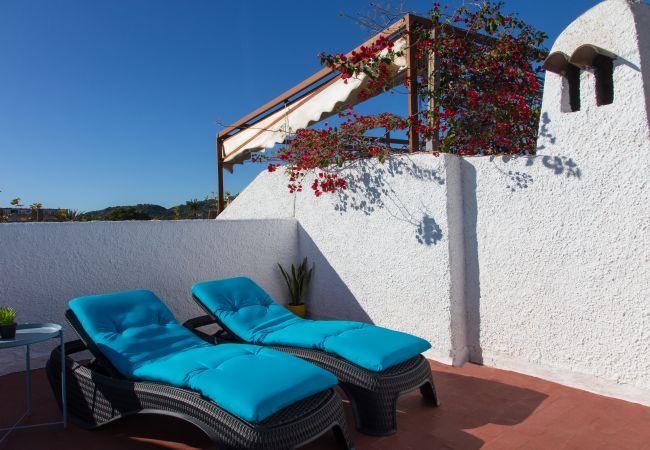 Maison mitoyenne à Javea / Xàbia - Javea townhouse with roof terrace 300m Arenal